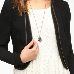Pins and Needles Zip Trim Black Blazer